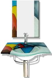 Glass Basin with Mirror