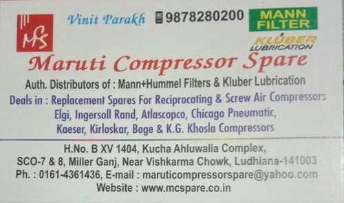 d01281598ae Air Compressor Spare Parts India - Jain Compressor Company, Ludhiana ...