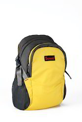 Plain School Polyester Backpack