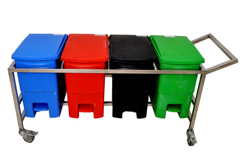 Bio Medical Waste Bin 32 Ltr With Trolley