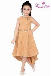 Girls Light Brown Kids Designer Dress