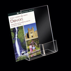 A4 Poster Holder with Leaflet Dispenser