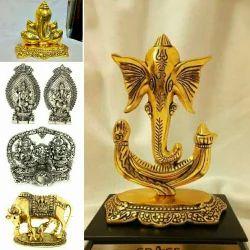 German Silver Gold / Silver Plated God Idols.
