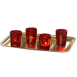 Mosaic Gold Rectangular Serving Tray