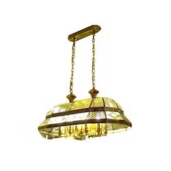 Crystal Metal and Glass Incandescent Bulb Hanging Chandelier