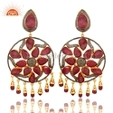 Ruby Gemstone Chandelier Earrings Jewelry