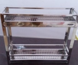 Macpie Chrome and Stainless Steel Kitchen Baskets, for Home and Hotel/Restaurant