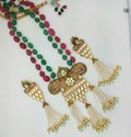 Kundan Long Set with Color Pirohi