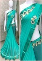 Zari Party Wear Georgette Saree With Embroidery
