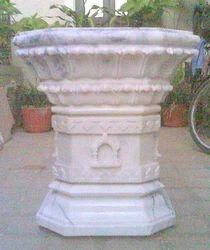 Marble Tulsi Pot Planter