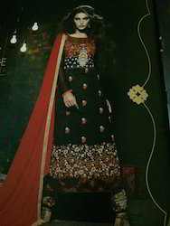 Palazo Dress Material With Beutiful Embroidery