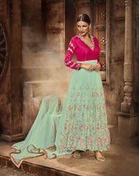 Pink Fancy Designer Anarkali Suit