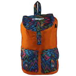 Orange Bleu Colorful Lightweight Girls Backpack