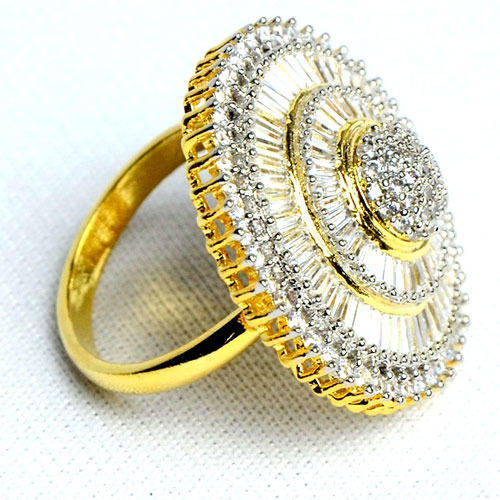 Golden Diamond Ring Sneha Creations Wholesaler in Moti Nagar