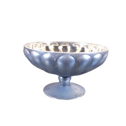 Distressed Mercury Glass Bowl