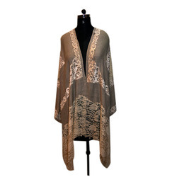 Four Side Velvet With Center Palla Lace Scarves