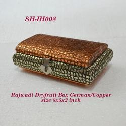 Rajwadi Dry Fruit Box German/Copper