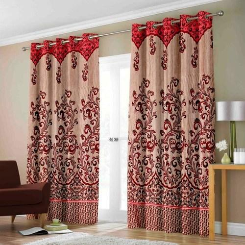 Heavy Jute Maroon Designer Panel Door Curtain At Rs 235