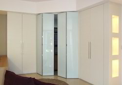 Wardrobe 3 Shelves Sliding Folding Door