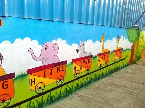 wall paintings for kids school in pimple gurav pune id 13590963448. Black Bedroom Furniture Sets. Home Design Ideas