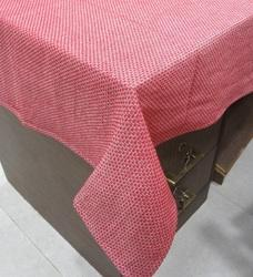 Red Cotton Linen Table Cloth