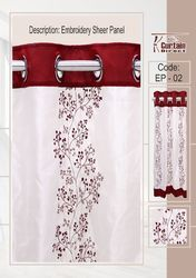 Embroidered Panel Window Curtain