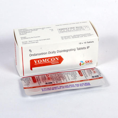 Ondansetron Orally Disintegrating Tablets IP, for Clinical, Packaging Type: Strip,Box