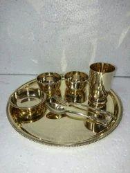 Brass Dinner Set, Packaging Type: Box
