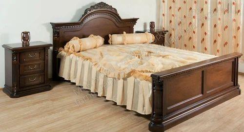 Teak Wood Double Bed Cots