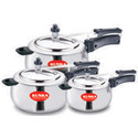 Aluminium Silver Pressure Cooker, Capacity: 4 Ltr, For Kitchen