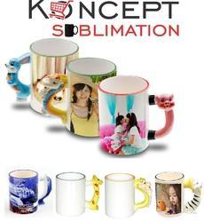 Sublimation Animal Mugs - Kids Designer Handle Mugs