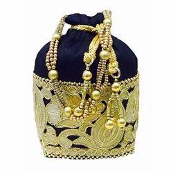 Traditional Black Potli Bag