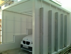 Membrane Tensile Fabric Covered Car Parking Structure