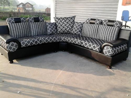 Furniture Sofas Dhol Corner L Shape Sofa Set 5 Seater