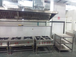Stainless Steel Kitchen Hood With Burner