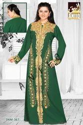 Embroidered Green Jilbab 367