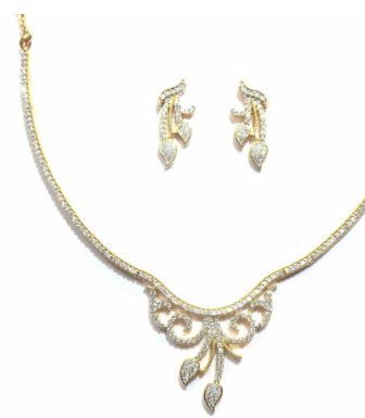 88a90d314 Jewelshingar American Diamond Necklace Set & Jewelshingar American ...