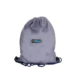 Grey Backpack Drawstring Bag