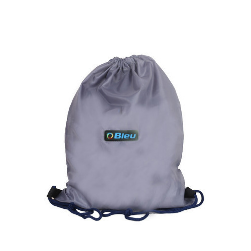 Bleu Polyester Grey Backpack Drawstring Bag