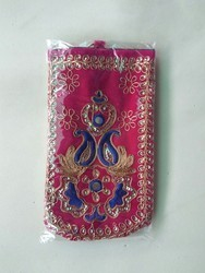 Multicolor Velvet Embroidery Mobile Cover