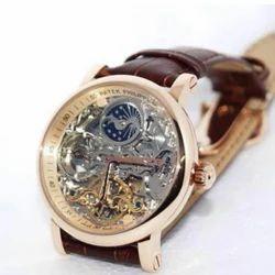 Multicolor Patek Philipp Brown Leather Watch