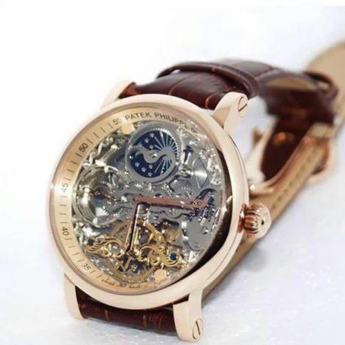 6b10edf4d3c Multicolor Patek Philipp Brown Leather Watch