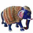 Meenakari Work Elephant Trunk Down MT079