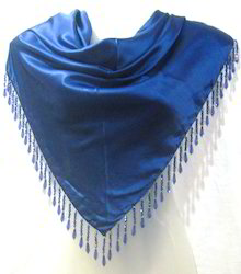 Fancy Solid Satin Triangle Scarves