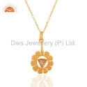 Designer Gold Plated Chain Pendant