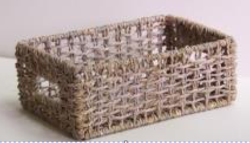 White Towel Basket