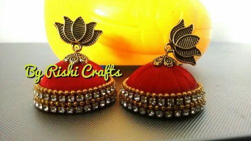 b2eb2ba97 Other of Silk Thread Earrings & Silk Thread Headbands by Rishi ...