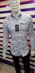 Party Wear Cotton Men Casual Shirt, Size: L