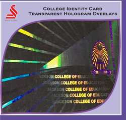 Holographic College Identity Card ID Transparent Overlay