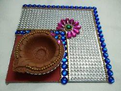 Decorative Clay Diya